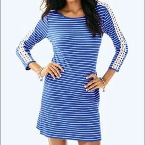 Lilly Pulitzer MARLOWE Beacon Blue Stripe Dress